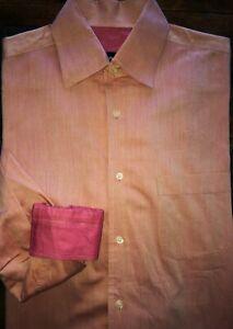 Mens Boss Hugo Boss All Cotton Long Sleeve Button Front Shirt 15 1/2 32-33