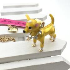 Pendant Betsey Johnson Jewelry Rhinestone Chihuahua Chain Sweater Women Necklace
