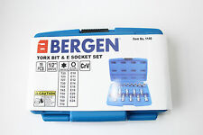 19pc Bergen Broca Torx E Socket Star Set Macho Mujer Destornillador t20-t70 e10-e24