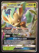 Leafeon GX 13/156 SM Ultra Prism ULTRA RARE HOLO Pokemon Card Near Mint