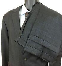 Jones New York Navy Blue Check 100% Wool 2 Button Suit 44 L 32x31