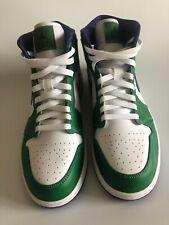 New listing Air Jordan 1 Mid Size 9 Hulk Trainers Green/ Purple/ White