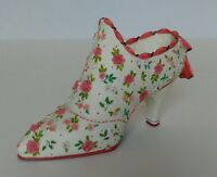 +Collectible Shoe Willow Hall Age of Elegance Miniature Floral Fantasy Ca 1908