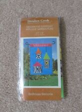 "Meadow Creek Birdhouse Welcome Applique Garden Flag-12.5"" x 18""-New In Package"