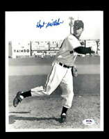 Hoyt Wilhelm PSA DNA Coa Hand Signed 8x10 Photo Autograph