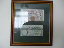More details for a framed set of  guernsey £5 and £1 notes in mint and uncirculated condition.
