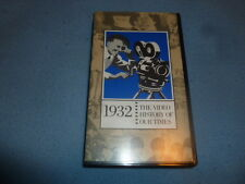 1932 VHS Tape Documentary The Video History Of Our Times Easton Press Universal
