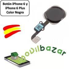 BOTON HOME FLEX IPHONE 6 Y 6+ PLUS NEGRO. ENVÍO DESDE ESPAÑA