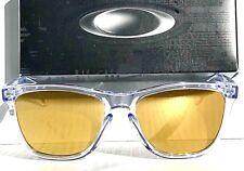 NEW* Oakley Frogskins Clear Crystal w 24K GOLD Fire Iridium Sunglass oo9013