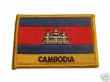 Cambodia Embroidered Flag patch -Iron on or Sew