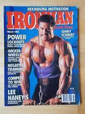 IRONMAN bodybuilding muscle magazine/SONNY SCHMIDT 3-92