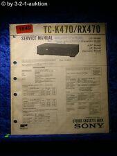 Sony Service Manual TC K470 / RX470 Cassette Deck  (#1849)