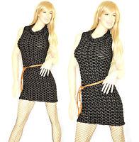 MINI ABITO donna vestito nero tubino abitino tinta unita vestido dress kleid V26