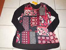 BIBA TRAUMhaftes Tunika Long Shirt XL 44 Sparkling Red / Red Wine NEU m. Kette