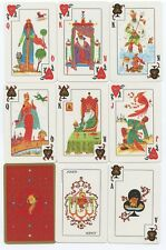 THE FIREBIRD playing cards Artist: Russian Miniaturist YURY SHAKOV 1983 Fournier
