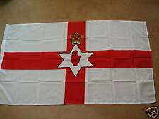 NORTHERN IRELAND RED HAND  FLAG  8'X5' POLYESTER POST FREE IN UK
