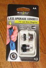 Nite-Ize LED Conversion Kit II AA Mini MAG Light maglite Upgrade Combo #2 NEW