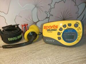 REFURBISHED Sony Sports Radio Walkman SRF-M78 NEW BELTS FM Stereo/AM arm strap