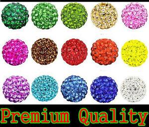 10X Beads Quality Clay Crystal Disco Balls Make Shamballa Bracelects