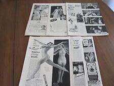 7 ORIGINAL VINTAGE 1941 LIFE MAGAZINE UNDERGARMENT ADS