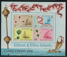 Gilbert & Ellice 1974 Canoes & Family Crests S/S Sc# 225a NH