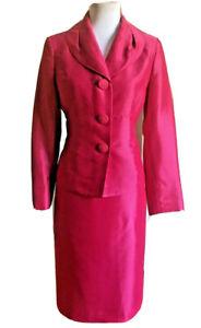 KASPER Women 2 PC Elegant Fuchsia Skirt Suit Size 8 P