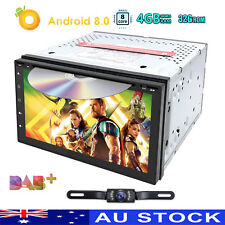 In Dash GPS Radio Car DVD Player CD Android 8.0 Octa Core RAM 4GB 32GB Touch DAB