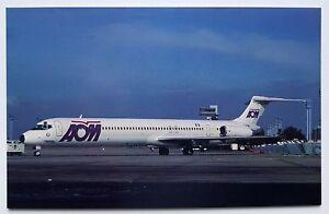 AOM Air Outre Mer McDonnell Douglas MD-83 Postcard