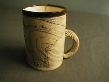 HANDMADE ASH MUG - BROWN & TEXTURED - PURCHASED AT ACC CRAFT FAIR PHILLY - dha