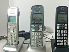 Three Panasonic Cordless Telephones w/Charging Bases w/Adapters Pnlc1029 Kx-Tga.