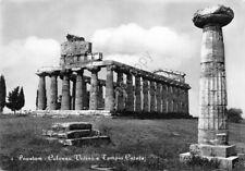 Cartolina Paestum Colonna Votiva e Tempio Cerere