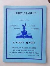 HARRY STANLEY LONDON MAGIC CENTRE UNIQUE STUDIO - BUMPER VINTAGE CATALOGUE