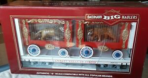BACHMANN 98371 EMMETT KELLY JR.CIRCUS LION/TIGER CAGE CAR -NEW IN BOX