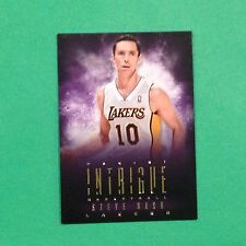 2013/14 Panini Intrigue STEVE NASH #42 Lakers / Santa Clara Legend