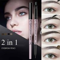 Women Double End Eyebrow Pen Eye Brown Pencil Cosmetic Long Lasting Waterproof
