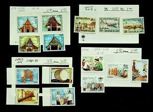LAOS DRUM ARCHITECTURE RELIGION 15v MNH + MH STAMPS CV $20