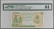 1951 LIBYA 10 PIATRES P6 PMG 64 INV#PM117-23