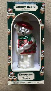 1997 Cubby Bears Glass Christmas Ornament.