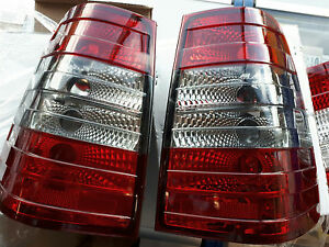 W124 S124 W124T Wagon taillights 5D RED SMOKE REAR TAIL BACK LIGHTS LIGHT