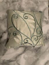 Madison Park Light Green Embroidered Throw Pillow