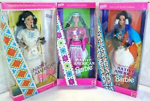3 Native American Barbie Dolls of the World 1st 2nd & 3rd Special Edition NRFB