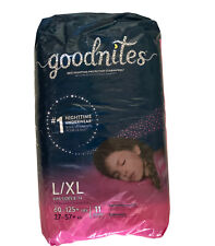 New listing New Goodnites Girls Bedtime Pajama Protection Size L/Xl 11 Count Fits Size 8-14