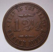 Butte Montana / Green's Buffet (Saloon) GF 12 1/2 Token Copper 28mm