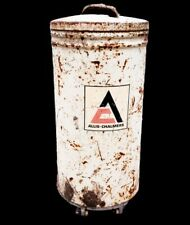 Allis Chalmers Metal Planter Seed Hopper, Complete Hopper Bottom, Lid, Plate