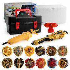 12PCS Beyblade Gold Burst Spinning With Grip Launcher Portable Box Case Toy Gift