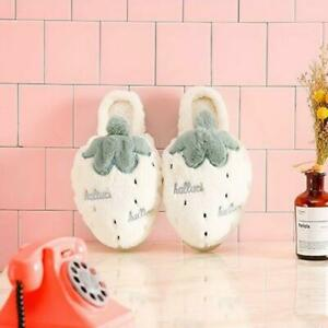 Women's Winter Slippers Cartoon Printed Cotton Non-Slip Warm Indoor Home Shoes