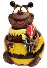 Garten Kugel Keramik Dekoration Figur Biene Willi mit Blume Handarbeit