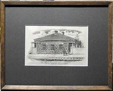 Francis Wilson Niven (1831–1905) Original Lithograph Registrar's Office Ballarat