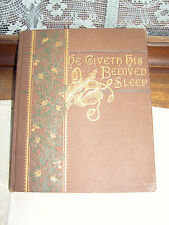 1883 Elizabeth Barrett Browing He Giveth His Beloved Sleep w/ gold edges & leaf