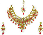 Indian Traditional Bollywood Fashion Gold Tone Kundan Bridal Wedding Jewelry Set